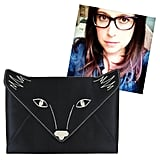 """@shiraselko Foxy Embroidered Satin Envelope Clutch ($118) """"If I had this adorable fox clutch, I might even want to leave the house! Even if I don't, it will make a great pet."""""""