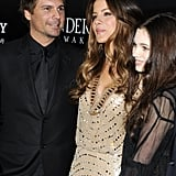 Kate Beckinsale, Len Wiseman, and India Eisley shared the red carpet in LA for Underworld: Awakening.