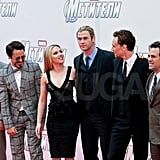 The Avengers teamed up in Moscow for a premiere.