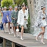 Sunday, March 4 10 a.m. — Givenchy 11:30 a.m. — Balenciaga 3 p.m. — Masha Ma 4 p.m. — Akris 5 p.m. — Valentino 6:30 p.m. — John Galliano 7:30 p.m. — Anne Sofie Madsen 8:30 p.m. — Thom Browne  Monday, March 5 10 a.m. — Stella McCartney 11 a.m. — Sacai 12 p.m. — Leonard Paris 1:30 p.m. — Giambattista Valli 2:30 p.m. —Liselore Frowijn 3:30 p.m. — Valentin Yudashkin 4:30 p.m. — A.P.C. 5 p.m. Shiatzy Chen 8 p.m. — Alexander McQueen  Tuesday, March 6 10:30 a.m. — Chanel 11:30 a.m. — Agnes B. 12:30 p.m. — Beautiful People 1:30 p.m. — Wendy Jim 2:30 p.m.  — Miu Miu 3:30 p.m. — Junko Shimada 4:30 p.m. — Jourden 5:30 p.m. — Moon Young Hee 6:30 p.m. — Louis Vuitton 8 p.m. — Paul & Joe