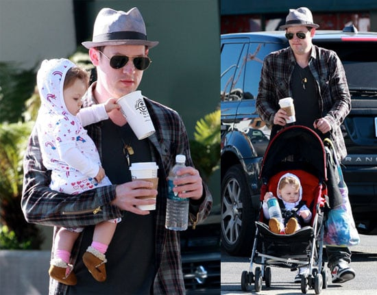 Photos of Joel Madden Holding Harlow Madden in LA, Benji Madden Talks About Being Protective