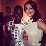 Lupita Nyong'o and Scandal's Bellamy Young chatted at People's party.
