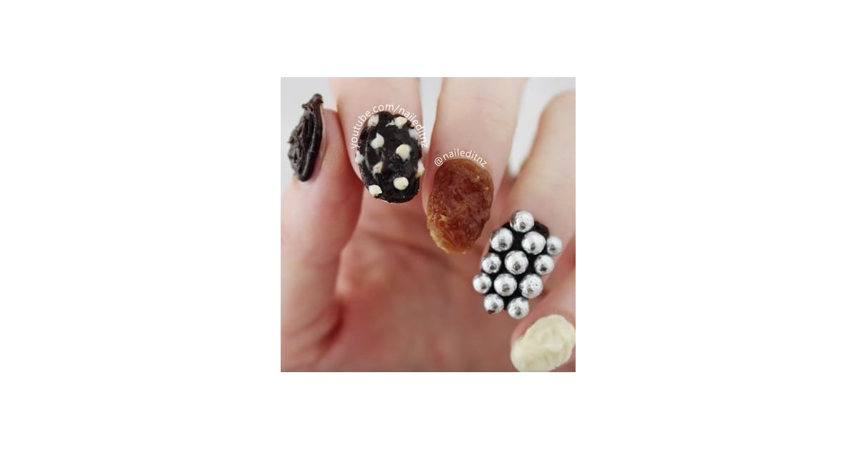 Chocolate Nail Art Video Popsugar Beauty