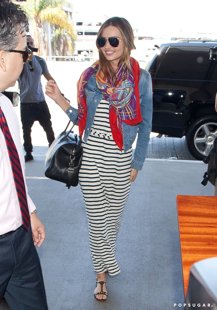 boots givenchy glasses dq21  This is how you fly in comfortable style: with a striped jersey maxi
