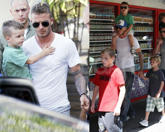 Photos of David Beckham and Boys in LA