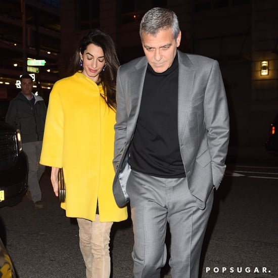 Amal Clooney Beige Knee-High Boots