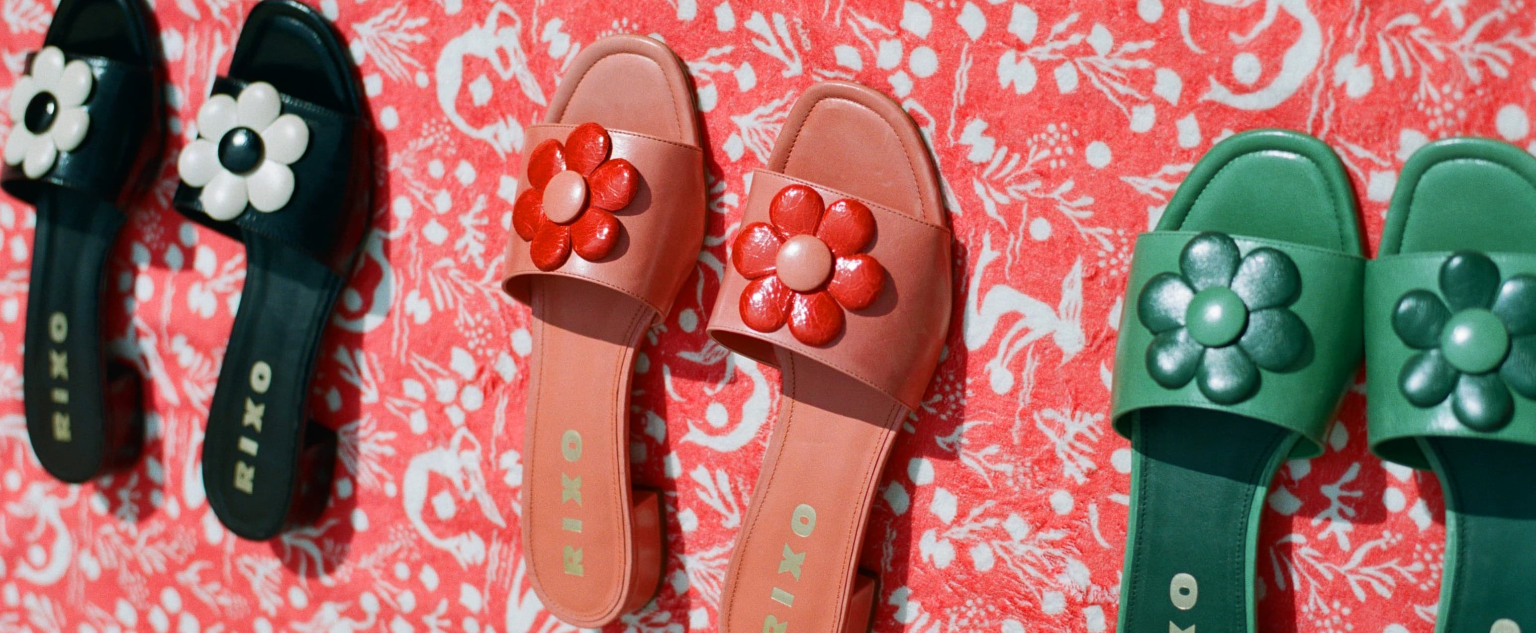 RIXO Debuts Shoe Collection of Midheel Summer Sandals