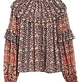 Ulla Johnson Eleni Jacquard Dot Silk Blouse