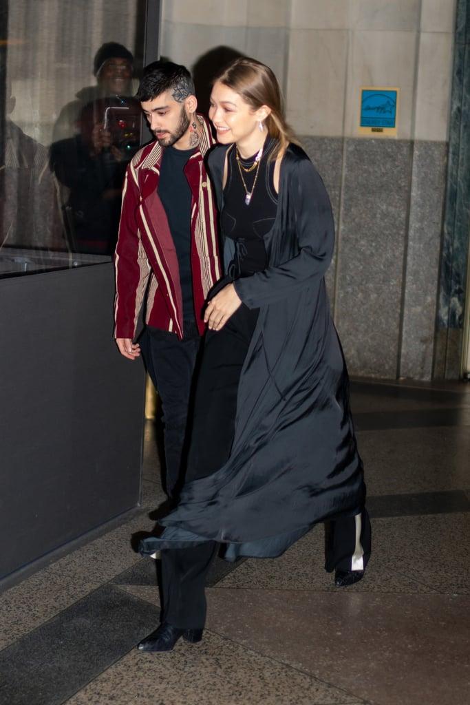 Gigi Hadid's Silver Mini Bag With Zayn on His 27th Birthday