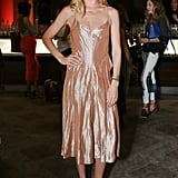 Doutzen Kroes glimmered in Calvin Klein's gold design while at the Tiffany & Co. party.
