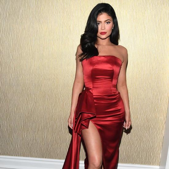 Kylie Jenner's Rhinestone Heart Nail Art