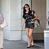 Ashley Greene arrived solo at LAX.