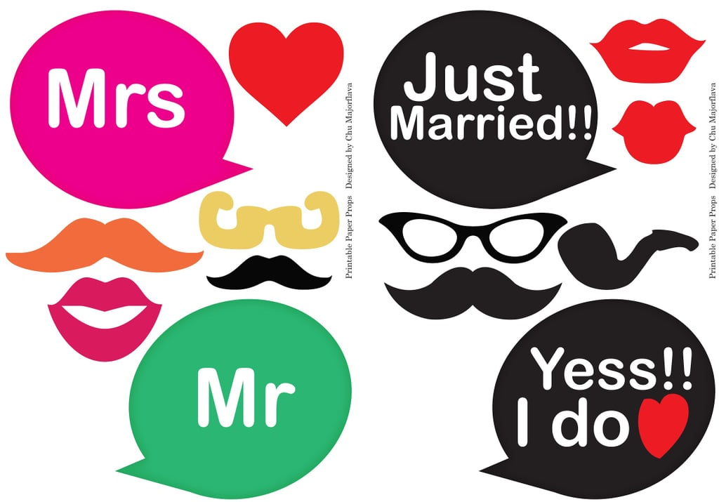 word bubble props free wedding photo booth printables popsugar