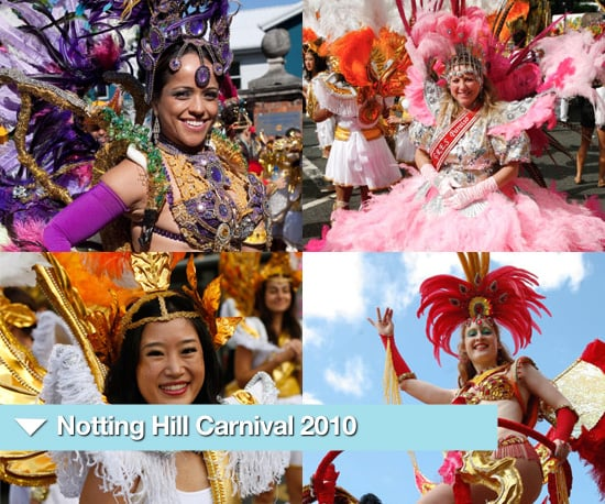 Photos from Notting Hill Carnival 2010 Parade Including Colourful Bikini Costumes