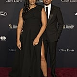 Kirsten Corley and Chance the Rapper at Clive Davis's 2020 Pre-Grammy Gala in LA