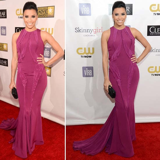 Eva Longoria at Critics' Choice Awards 2013