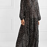 Stella McCartney Tiered Polka-Dot Cotton and Silk-Blend Voile Maxi Dress