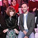 Anna Wintour and Nicolas Ghesquière at Chloé Fall 2019