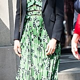 Meghan Markle Green Self Portrait Dress