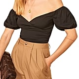 Reformation Lampone Off-the-Shoulder Top