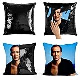 Nicolas Cage Sexy Sequin Pillow