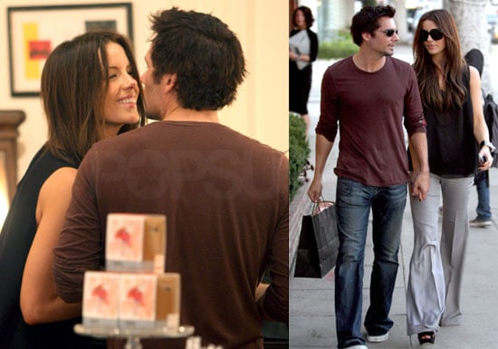 Photos of Kate Beckinsale and Len Wiseman Shopping in LA