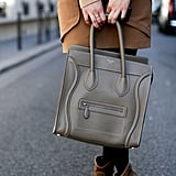 Céline spotted — this time in a perfect neutral to complement a tan palette.