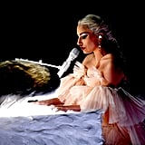 "In 2018, Lady Gaga delivered an emotional performance of ""Joanne"" and ""Million Reasons."""