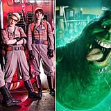The Ghostbusters and the Slimer From Ghostbusters