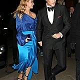 Matt Smith and Lily James at a Pre-BAFTA Filmmakers Dinner