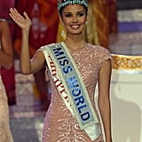 Miss World 2013 Megan Young waved to the crowd after she was crowned.