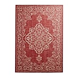 Dobby Traditional Tuscan Red Rug