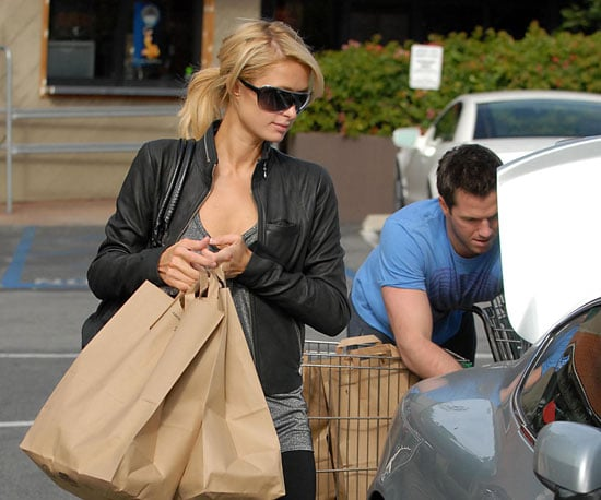 Slide Photo of Paris Hilton Grocery Shopping With Doug Reinhardt