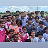 He Took a Photo With Young Soccer Stars
