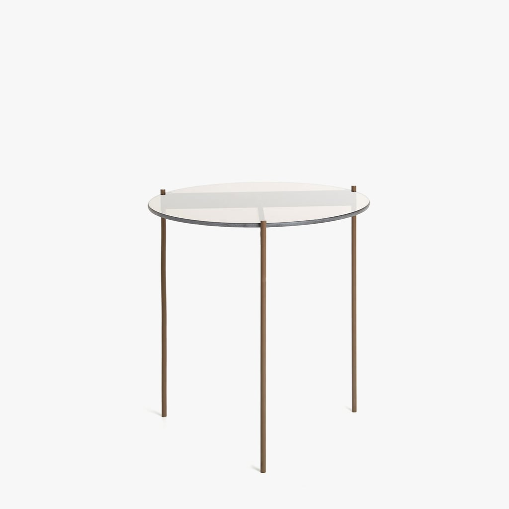 Zara Home Round Glass and Metal Table ($139)