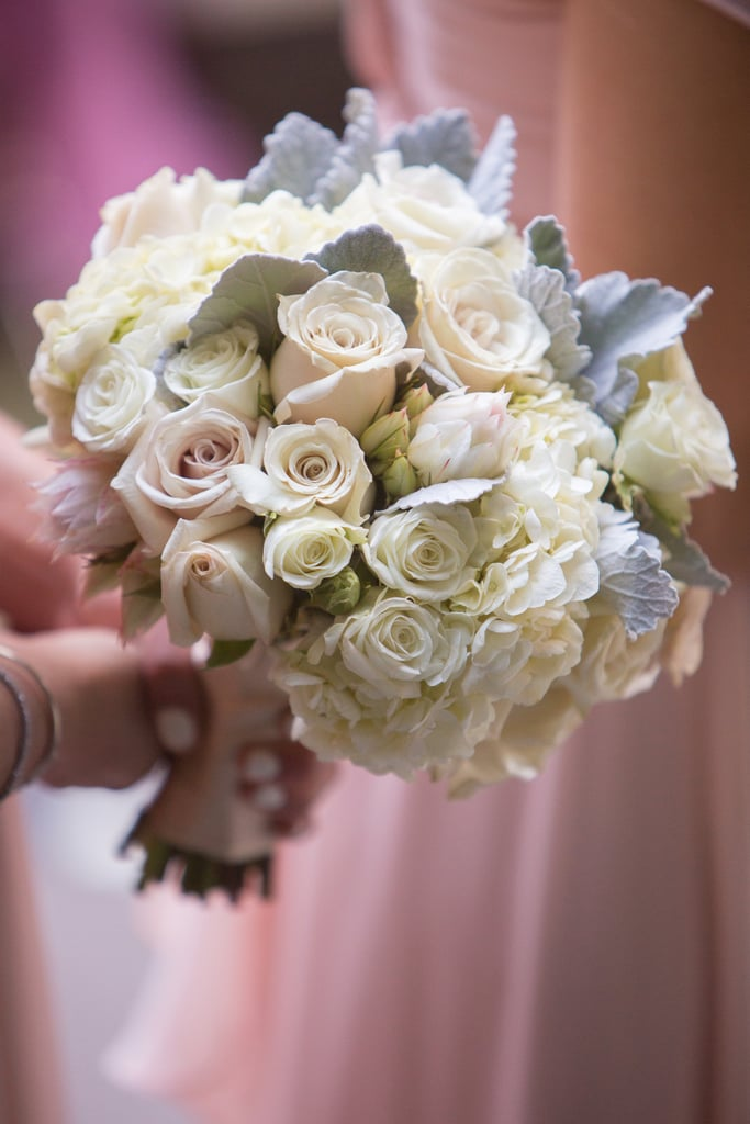 quicksand roses tibet roses spray roses hydrangea dusty miller and blush - Garden Rose And Hydrangea Bouquet