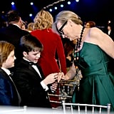 Cameron Crovetti, Iain Armitage, and Meryl Streep at the 2020 SAG Awards