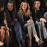 Malin Akerman, Petra Nemcova, and Abbie Cornish at the Tommy Hilfiger show.