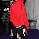 Sienna channeled Little Red Riding Hood in 2010.