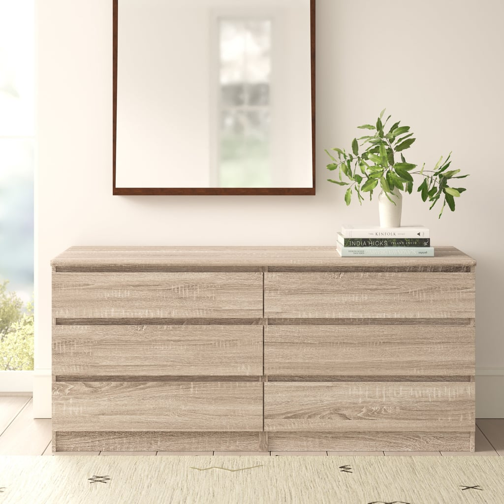 AllModern Kayley 6 Drawer Double Dresser