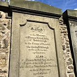 Here's the real gravestone in Greyfriars Kirkyard for aristocrat Thomas Riddell esq. and his son, also Thomas Riddell, where fans leave flowers and notes for real-life men who inspired Voldemort's name.