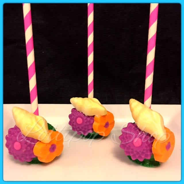 Cake Pops Moana Birthday Party Decor Popsugar Family