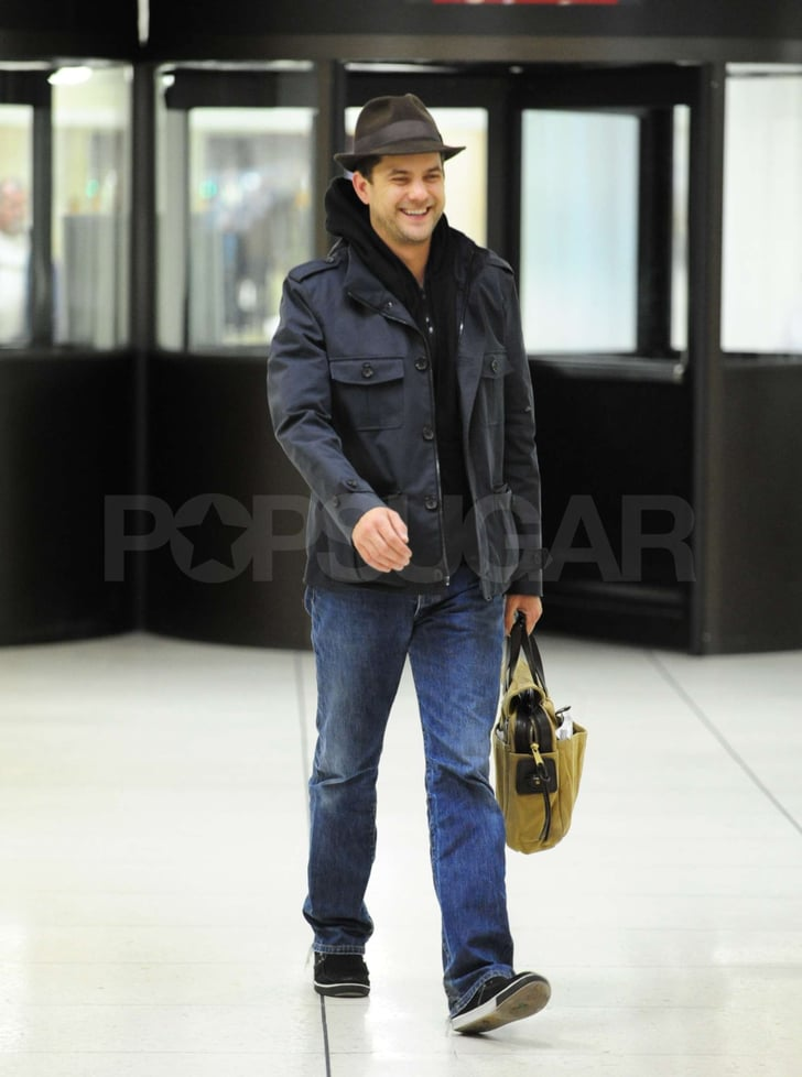 Pictures of Joshua Jackson Touching Down at LAX