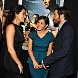 Jake Gyllenhaal got together with America Ferrera and Natalie Martinez on the red carpet.