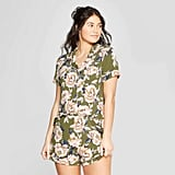 Floral Print Beautifully Soft Notch Collar Pajama Set