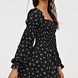 Smock-Detail Dress