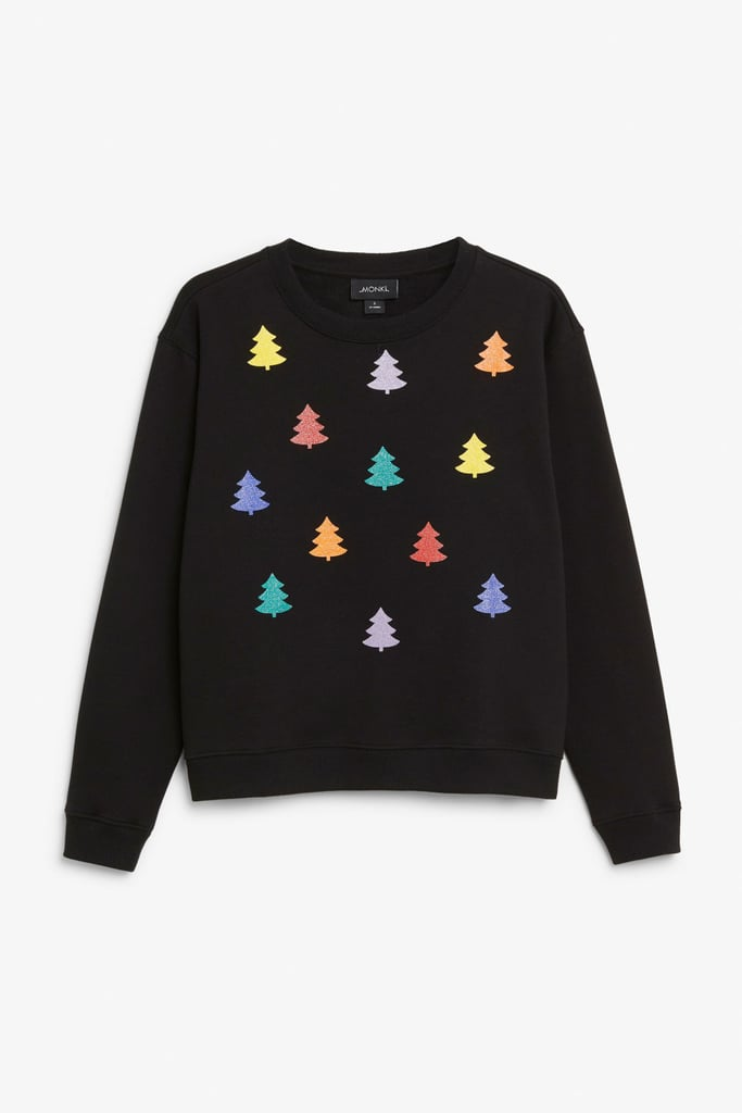 Monki Multicoloured Trees Christmas Jumper