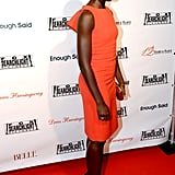 Lupita Nyong'o made a genius pairing when she matched an orange sheath dress with leopard pumps at the 2013 Toronto International Film Festival.