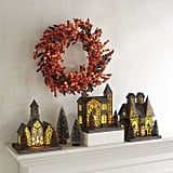 Pier 1 Imports LED Light-Up Orange & Black Halloween Village