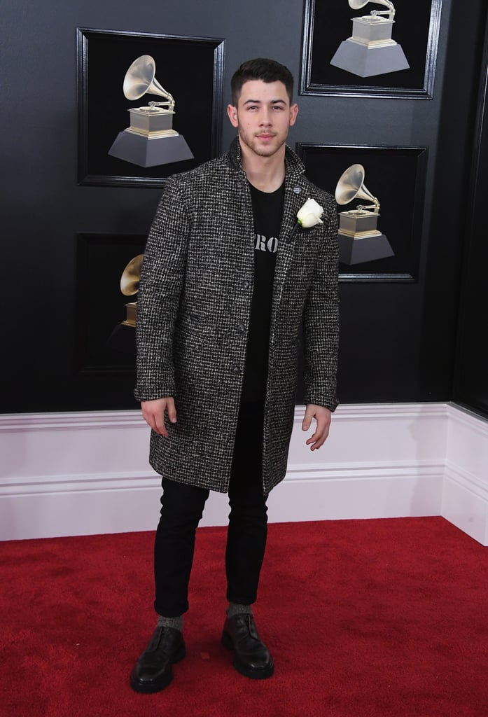 nick jonas grammys red carpet dresses 2018 popsugar